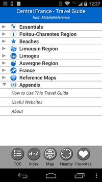 Central France - FREE Guide screenshot 1