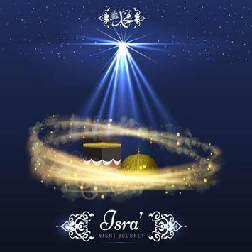 Isra and Miraj Greeting Cards poster