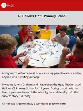 All Hallows CE Primary School apk screenshot