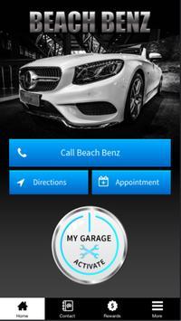 Beach Benz poster