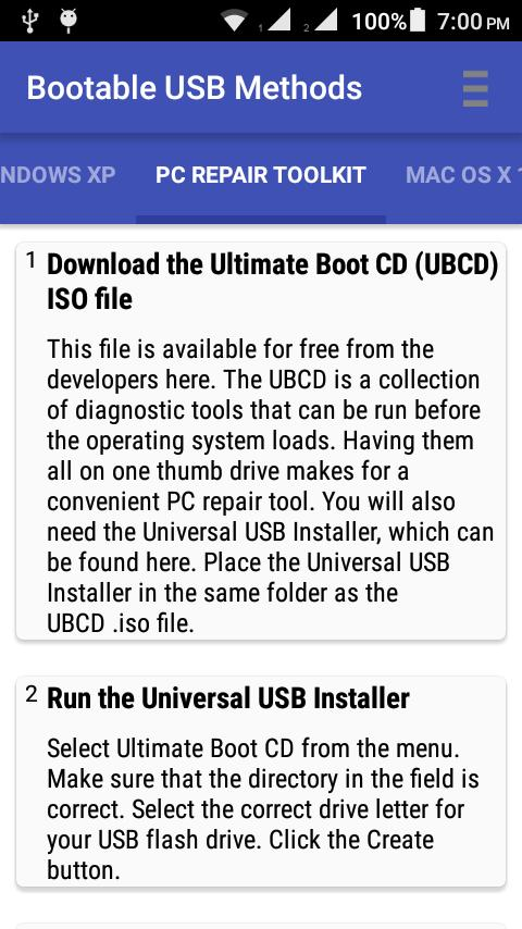 Bootable USB Methods for Android - APK Download