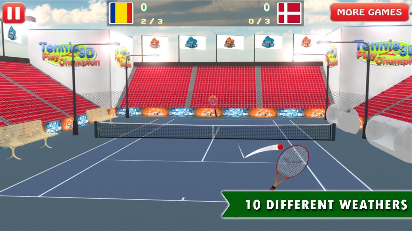 tennis 3d play champion apk baixar gr tis esportes jogo. Black Bedroom Furniture Sets. Home Design Ideas