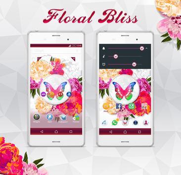 Floral Bliss XperiaN Theme apk screenshot