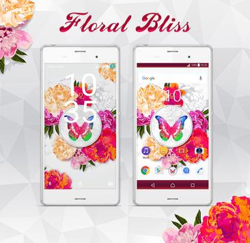 Floral Bliss XperiaN Theme poster