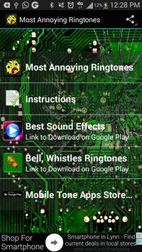 Annoying Sounds Ringtones poster