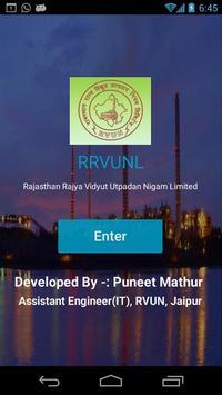Mobile Intranet APP for RVUNL Employee poster