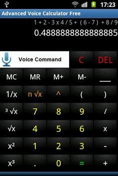 Advanced Voice Calculator Free poster