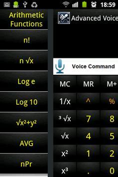 Advanced Voice Calculator Free screenshot 1