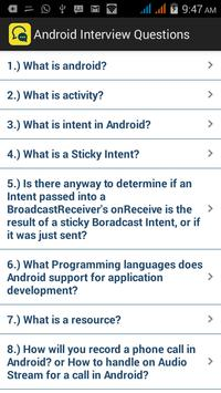 Interview Questions Android poster