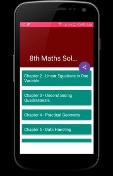 8th Class Maths Solutions - CBSE poster