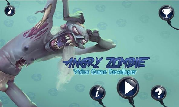 Angry Zombie: Video Game Dev poster