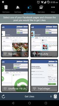 FBLikes for Facebook Pages apk screenshot