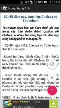 Tin bóng đá tổng hợp screenshot 1