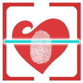 Fingerprint love calculator icon