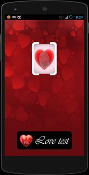 Fingerprint love calculator poster