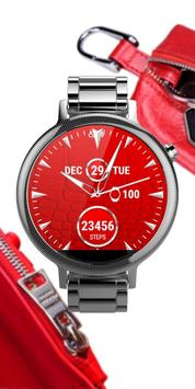 Watch Face Red Art poster