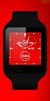 Watch Face Red Art apk screenshot
