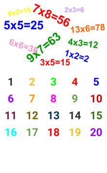 Tablas de Multiplicar poster