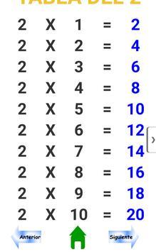 Tablas de Multiplicar screenshot 3