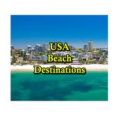 Beach destinations USA icon