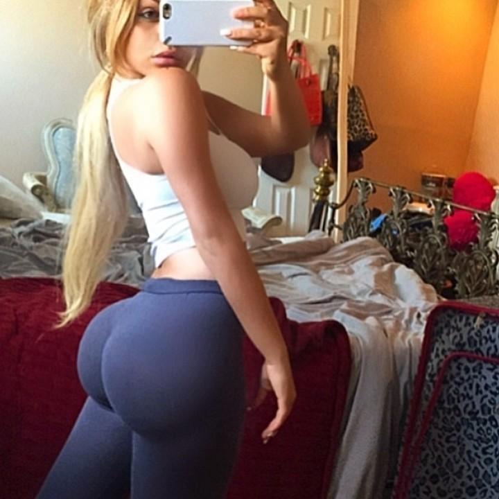 Girls in leggings selfie