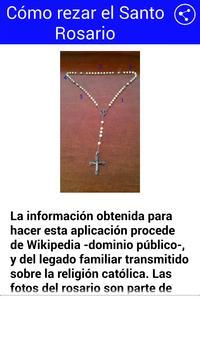 Cómo rezar el Rosario poster