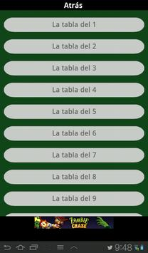Tabla matematicas apk screenshot