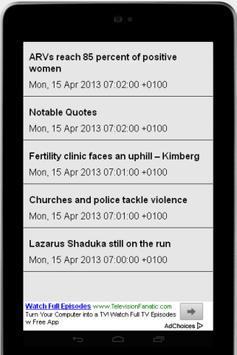 Namibian News Feeds apk screenshot