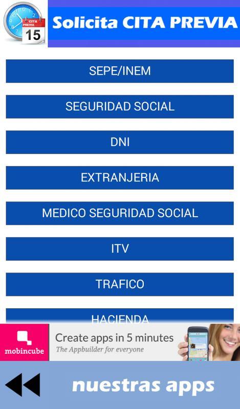 Solicita CITA PREVIA APK Download - Free Tools APP for Android ...