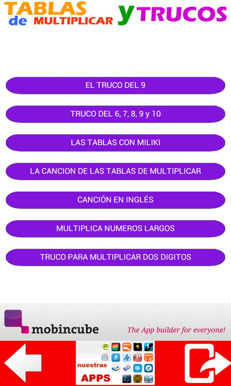 Multiplicar Tables Y Truco For Android Apk Download