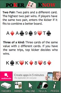 Poker Know apk screenshot