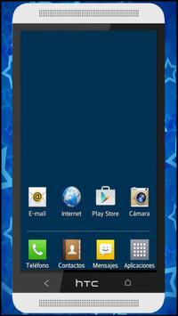 Wallpaper blue screen apk screenshot