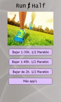 Entrenos media maratón poster