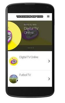Television en vivo poster