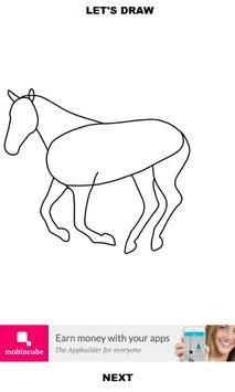 How to Draw Horse apk screenshot