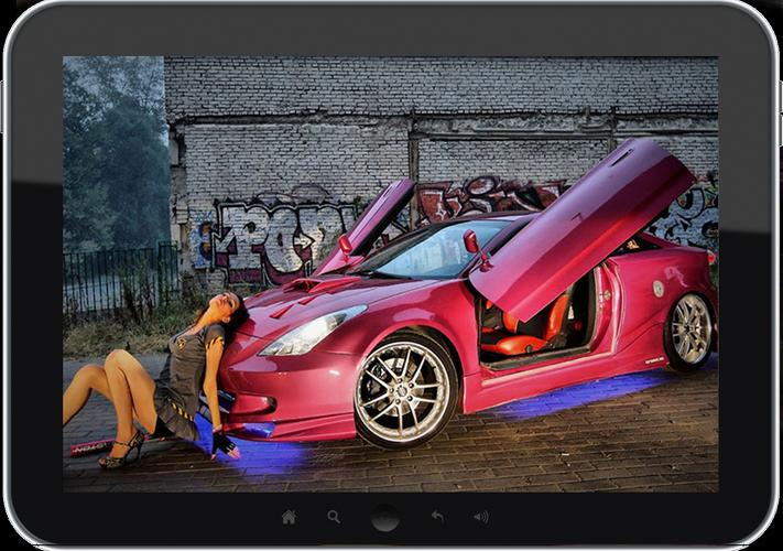 Fondos De Pantalla De Motor Y Coches Para Android: Wallpapers Sexys Chicas Coches For Android