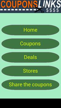 Coupons Links poster