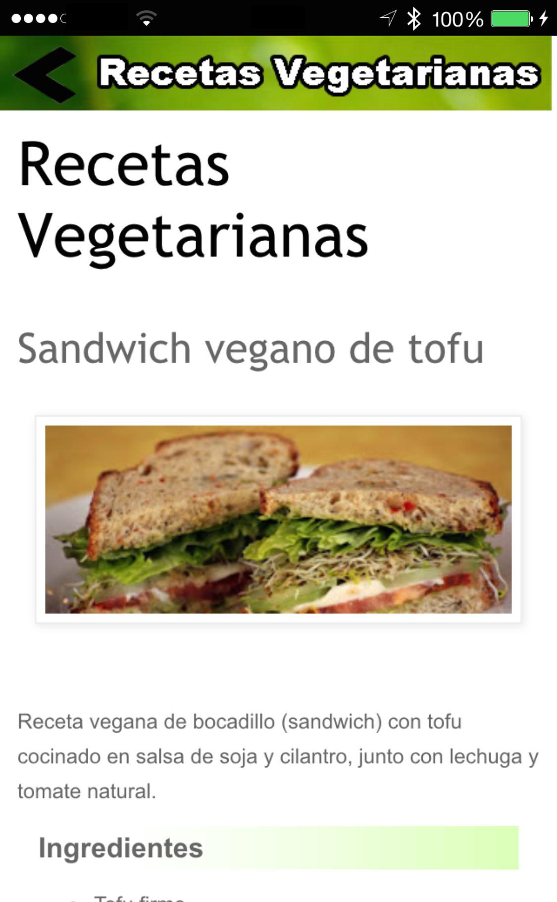 Recetas Vegetarianas For Android Apk Download