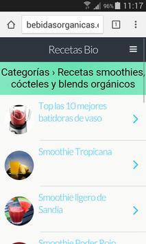 Recetas Bebidas Bio poster