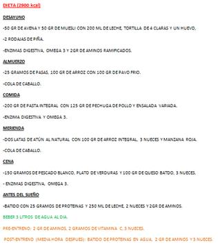 Dietas para  musculacion screenshot 1