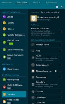 Control parental en Android apk screenshot