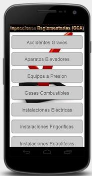 Revisiones Reglamentarias OCA screenshot 1