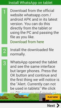 Install whatsapp Tablet apk screenshot