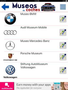 Museos de coches apk screenshot