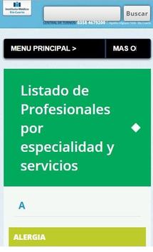Instituto Médico Río Cuarto screenshot 1