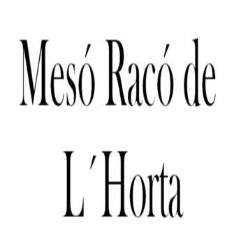 Carta Restaurante Racó L´Horta poster