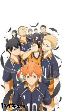 Anime Karasuno 烏野 Wallpapers poster