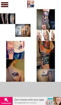 Astounding Cubism Tattoos poster
