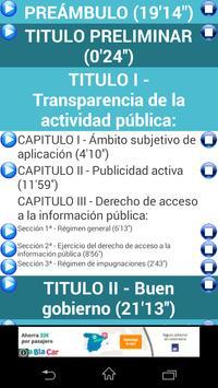 AUDIO LEY 19/2013 DE TRANSPARENCIA screenshot 1