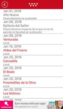 Calendario Laboral Madrid 2016 screenshot 4